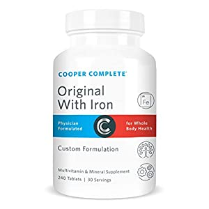 Cooper Complete – Original Multivitamin with Iron – Daily Multivitamin and Mineral Supplement -…