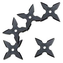 Halloween Ninja Rubber Throwing Star - Kazaguruma Shuriken - 5pc Set