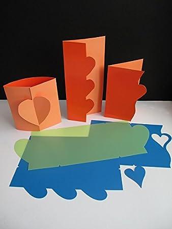 3 Pc Pk Aus Haltbarem Herz Vorlagen Zum Kartenbasteln Kunsthandwerk