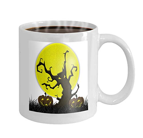 Custom Coffee Mug 11 Oz Ceramic Gifts Tea Cup bat fly halloween fabric recycle -
