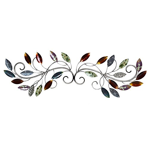 Stratton Home Decor SHD0228 Multi Leaf Scroll Wall Decor, 39.75 W X 0.75 D X 13.50 H,