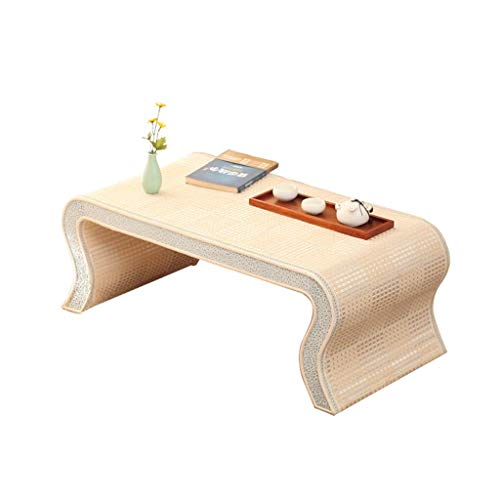 Tables Coffee Coffee Tatami Coffee Bedroom Side Chinese Bay Window Small Desk Go Low Modern Living Room Bamboo (Color : White, Size : 604530cm)
