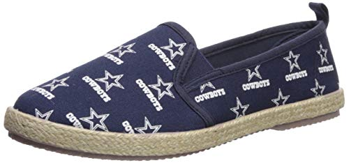 Dallas Cowboys Espadrille Canvas Shoe - Womens Medium -