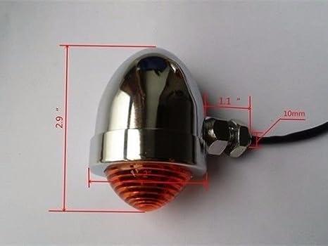 BHYShop Moto 10mm Frein Arri/ère Feu Arri/ère Caf/é Racer Choppers Bobbers Cruisers Personnalis/é CB Chrome