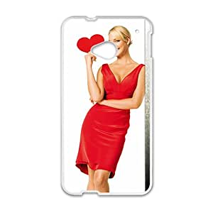 KKDTT Fire Red Woman Design Pesonalized Creative Phone Case For HTC M7