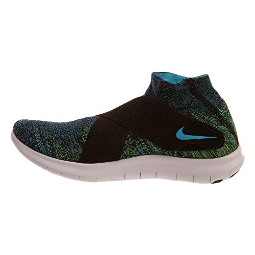 Chlorine Men's Blue volt Black white 2017 Running Nike Flyknit Shoe Free RN fT4x8q4H