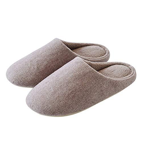 Slip 2 Antideslizantes Mujer Cálidas Mute Cómodas Zapatillas on Invierno Para De Outdoor Night Shoes 41house Felpa Algodón Winter Indoor Wall Y qw4C7ft