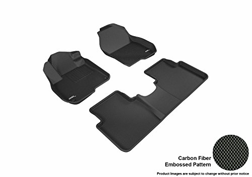 3D MAXpider Complete Set Custom Fit All-Weather Floor Mat For Select Honda CR-V Models - Kagu Rubber (Black)
