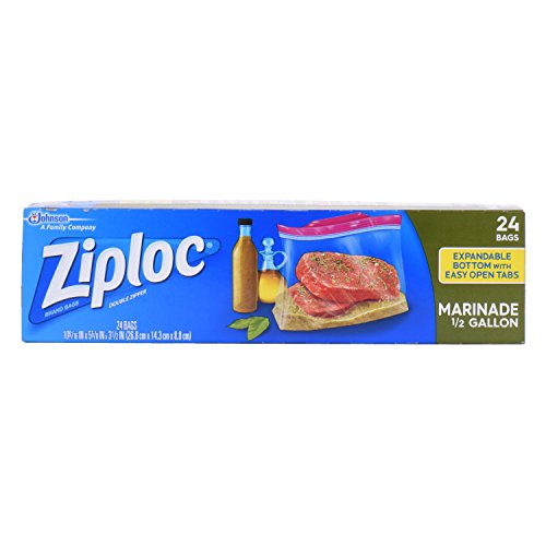 Ziploc Marinade Bags, Half Gallon, 24-Count (Pack of - Half Gallon Bags