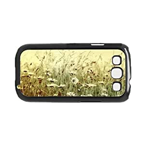 Vintage White Wild Flowers Background Hard Snap on Phone Case (Galaxy S3 Iii)