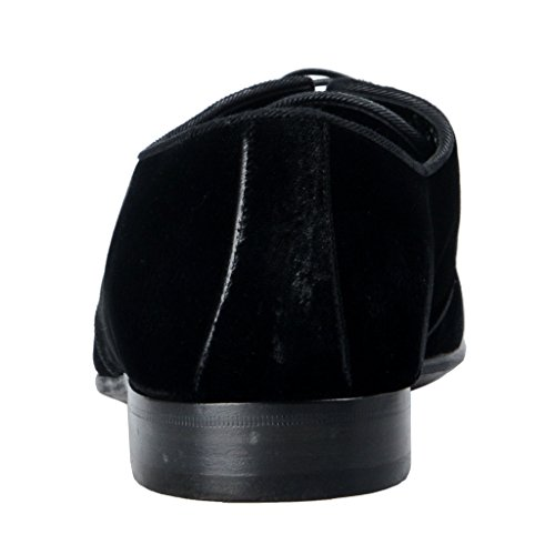 Dolce & Gabbana Homme En Cuir Velours Noir Robe Chaussures Oxford Noir