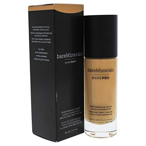 Bare Escentuals bareMinerals Barepro Performance Wear Liquid Foundation SPF 20 18 Pecan for Women, 1 Ounce