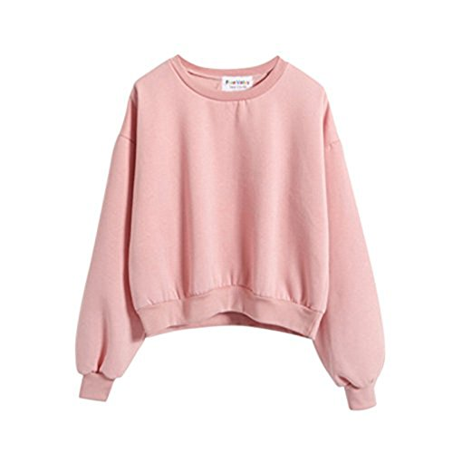 ROPALIA Teen Girl's Casual Crew Neck Sweatshirt Tops Outerwear (Clothing Teen Girls compare prices)