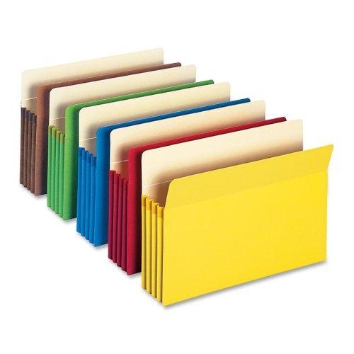 Wholesale CASE of 15 - Smead Tear-Resistant Tyvek Top Tab File Pockets-Top-Tab File Pockets,3-1/2'' Exp,14-3/4''x9-1/2'',5/Pk,Assort.