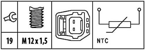 HELLA 6PT 009 309-461 Sensor coolant temperature with cable Number of connectors 2