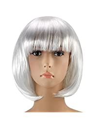 Red Star Women's Short Bob Wig Fancy Dress Cosplay Wigs Pop Party Costume