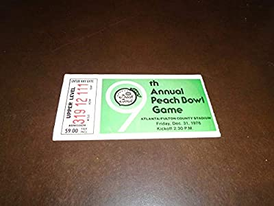 1976 Peach Bowl Football Ticket Stub Kentucky Vs North Carolina Ex