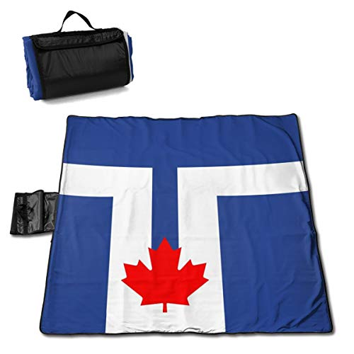 Tote Toronto - XKAWPC Flag of Toronto Family Picnic Blanket with Tote 57''x59'' Beach Mat Sandproof and Waterproof for Picnic, Beaches, RVing and Outings