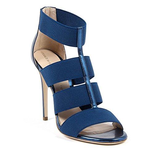 V 1969 Italia Donna Cinturino Alla Caviglia Sandalo Blu Elsa