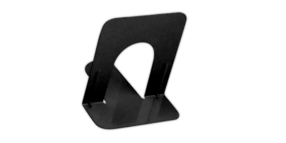 Charles Leonard Bookends, 5 Inch Steel, Black, 50 Pairs (87511)