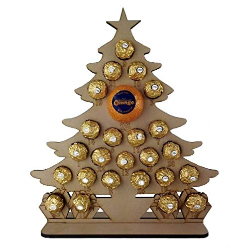 6mm Christmas Tree Chocolate Orange and Ferrero Rocher Advent Calendar Nightingale Craft