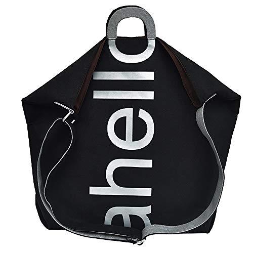 Travel Square Bag Black Messenger Women Bag Letter Printed Bag Canvas Fashion ZOMUSAR Handbag Shoulder vPq6AP