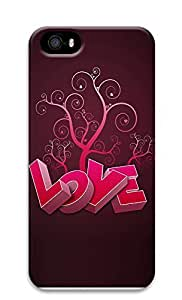 iPhone 5 5S Case 3D Heart And Tree 3D Custom iPhone 5 5S Case Cover
