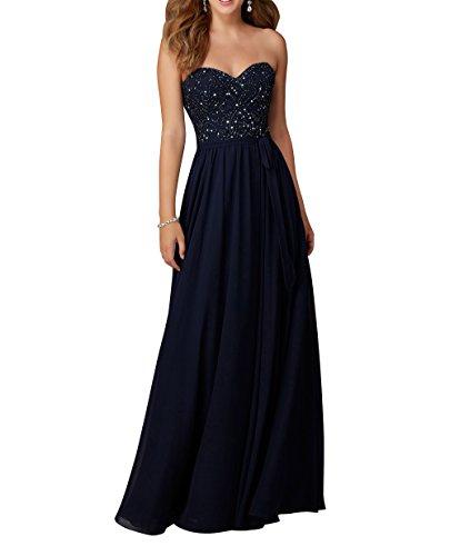Langes Neu 2018 La Blau A Chiffon Brautjungfernkleider Abschlussballkleider Brau mia Abendkleider Navy Promkleider Linie tIqqwrUSnO