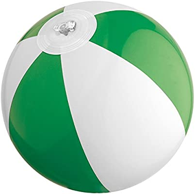 Mini pelota de playa/agua Ball/Color: Verde y Blanco: Amazon.es ...