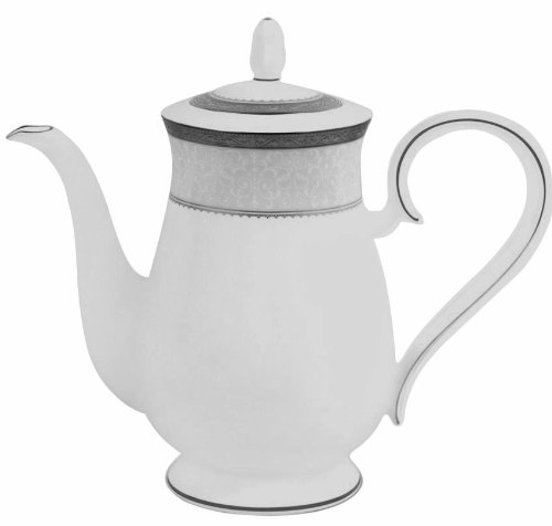 Noritake Odessa Teapot, Platinum