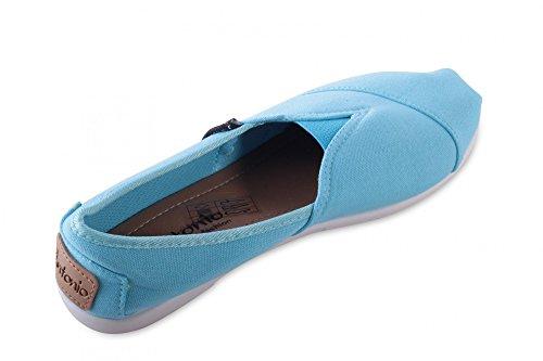 Damen Herren Unisex Slipper Espadrilles Canvas Leinenschuhe Sneakers Turquoise