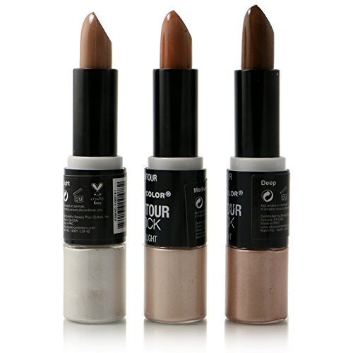 - 3pc City Color Contour Stick & Highlight Cream 2 in 1 #F0027