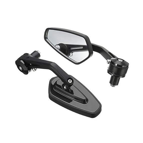 Pocomo Handle Grip Side Mirror for Ktm Duke Bajaj Dominar, pulsar 150, 180, 200ns Tvs Ntorq Scooty Bike Royal