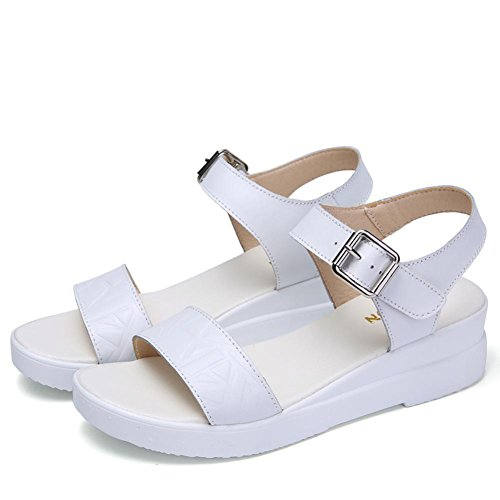 Women Shoes Sandals Slip Slope Simple YC Summer Non Bottom White 2017 Thick Wild Bottom With Flat Students L 5waRnZqq