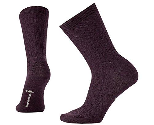 Smartwool Women's Cable II Socks (Bordeaux Heather) Medium