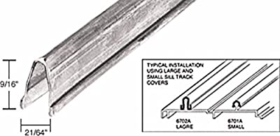 CRL 8' Stainless Steel Large Patio Door Sill Cover 6702A8