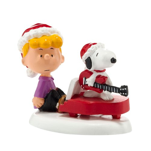 Peanuts Village Schroeder and Snoopy's Christmas