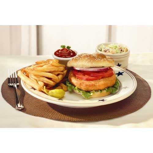 Trident Seafoods Alaska Salmon Burger - 50 of 3.2 Ounce Pieces, 10 Pound -- 1 each.