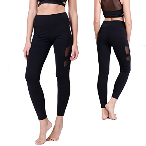 KIWI RATA Women Sports Mesh Gym Workout Fitness Capris Yoga Pant Legging
