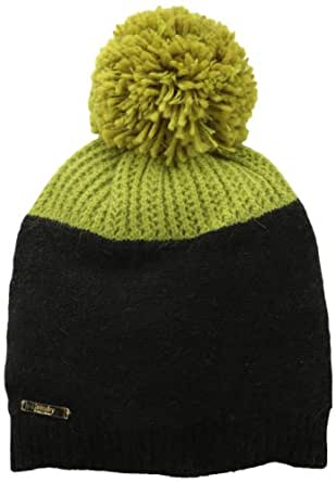 Laundry by Shelli Segal Women's Color Block Beanie with Pom, Limelight Multi, One Size