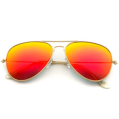 Frame adulte WearMe Lens Mirror mixte Gold Pro Red Classique Orange aqgxgwBXSt