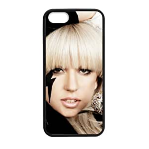 iPhone 5 Case, [lady gaga] iPhone 5,5s Case Custom Durable Case Cover for iPhone5 TPU case(Laser Technology)