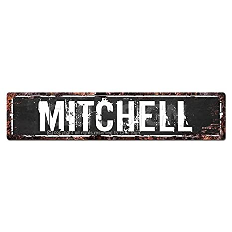 22ca1c948786f3 Amazon.com : MITCHELL MAN CAVE Street Sign Chic Rustic Street Plate ...
