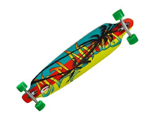 Zeckos 42 Inch Drop Through Complete Longboard Speed Skateboard