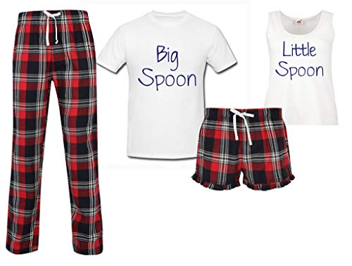 Assortis Noël Makeover Couples Spoon Grand Limited 60 Second Tartan Pyjama Anniversaire Cuillère Rouge Set Little 8wB4qO