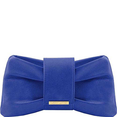 Tuscany Leather Priscilla Pochette in pelle Borse donna a mano in pelle Blu