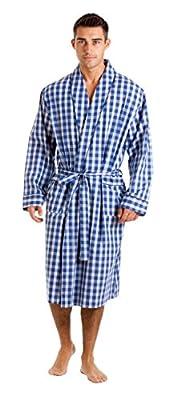 Haigman Men's Cotton Dressing Gown Bath Robe Nightwear 7396