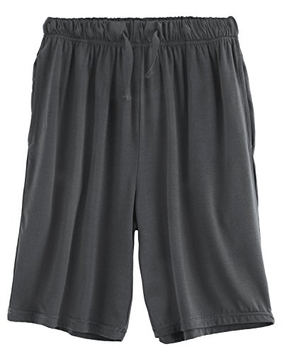 Latuza Men's Bamboo Sleep Shorts Loose Lounge Shorts, XXL, Deep Gray