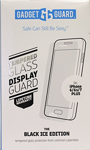 Price comparison product image Gadget Guard The Black Ice Edition Tempered Glass Screen Protector for iPhone [6s Plus][7 Plus]