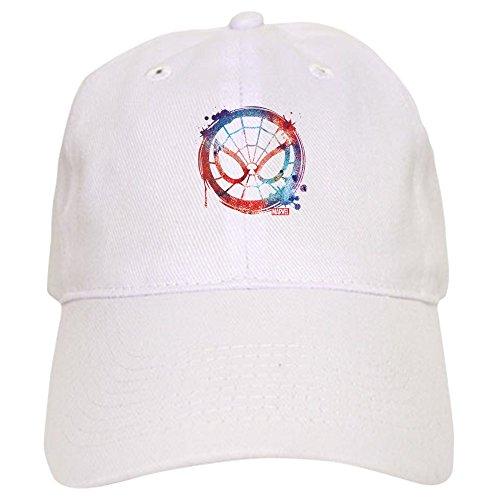 CafePress Spider Man Icon Splatter Baseball Cap with Adjustable Closure, Unique Printed Baseball Hat